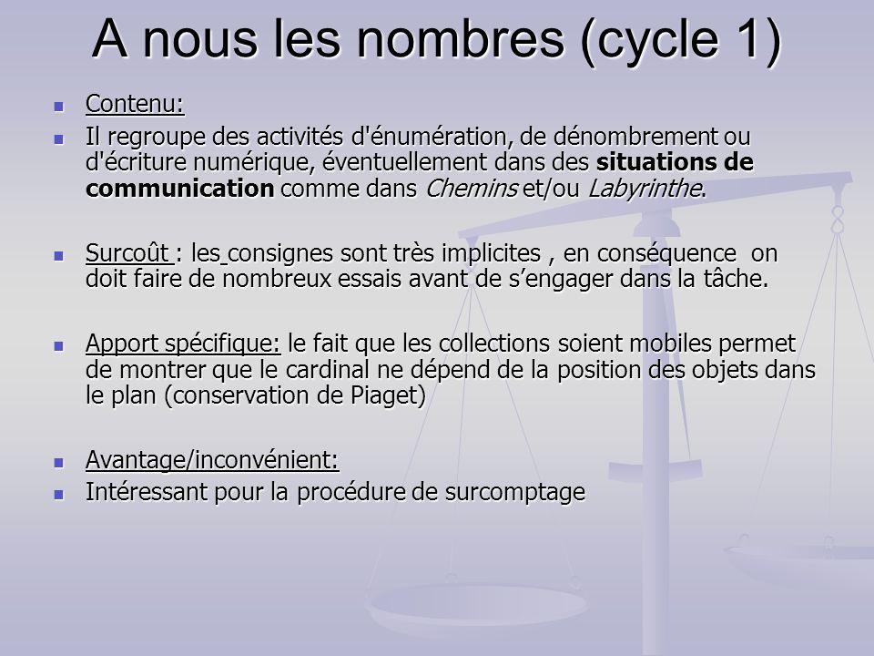 A nous les nombres (cycle 1)
