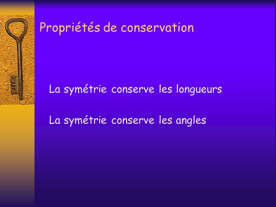 Propriétés de conservation