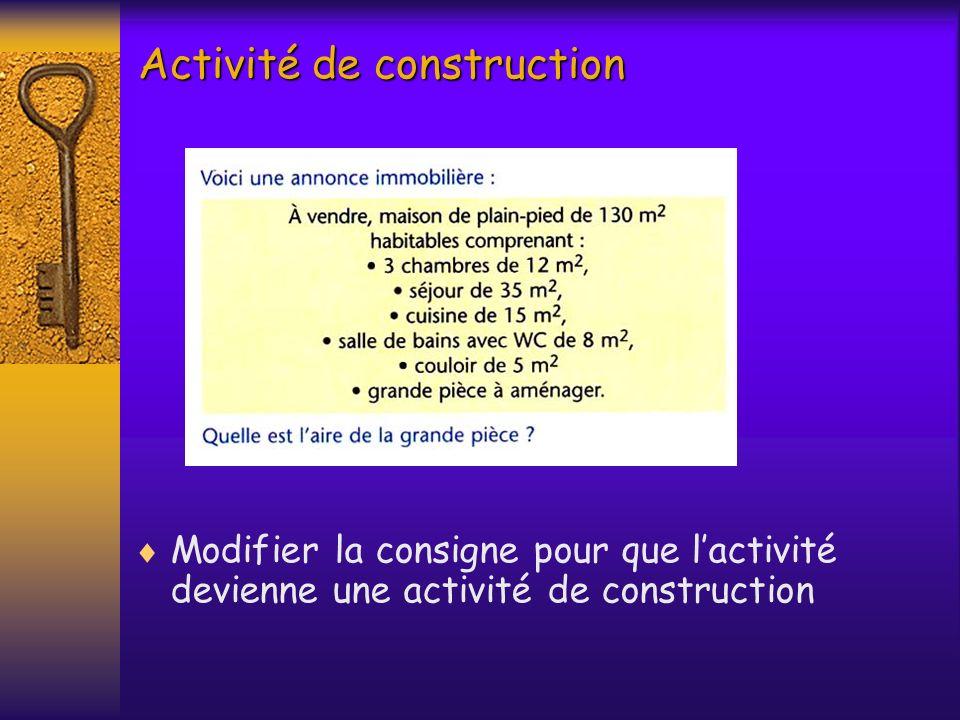 Activité de construction