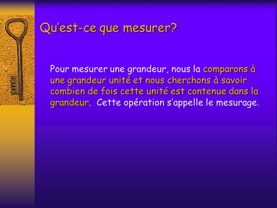 Qu'est-ce que mesurer
