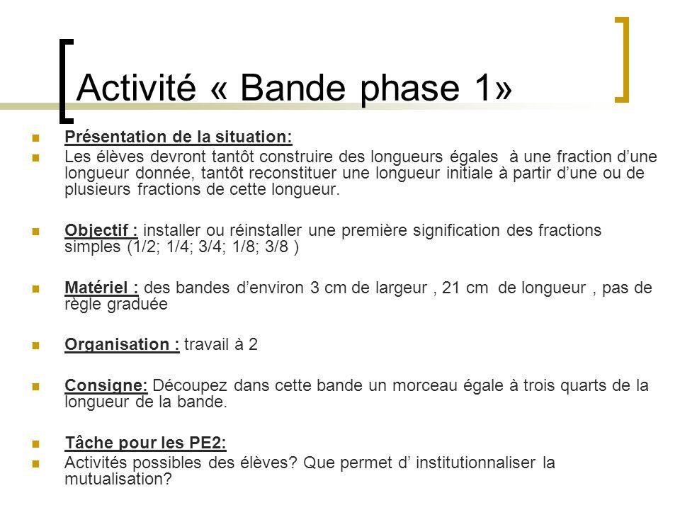 Activité « Bande phase 1»