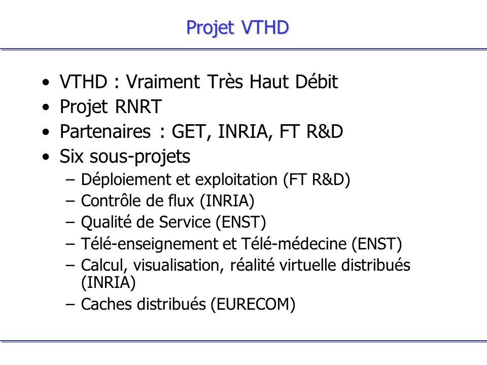 VTHD : Vraiment Très Haut Débit Projet RNRT