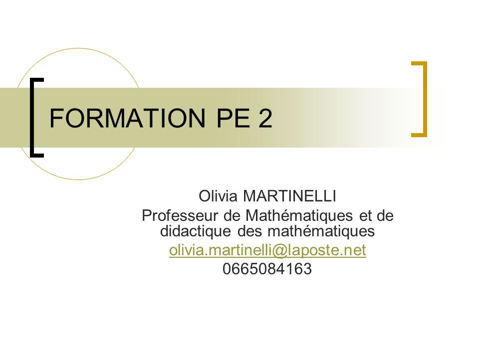 Professeur de Mathématiques et de didactique des mathématiques