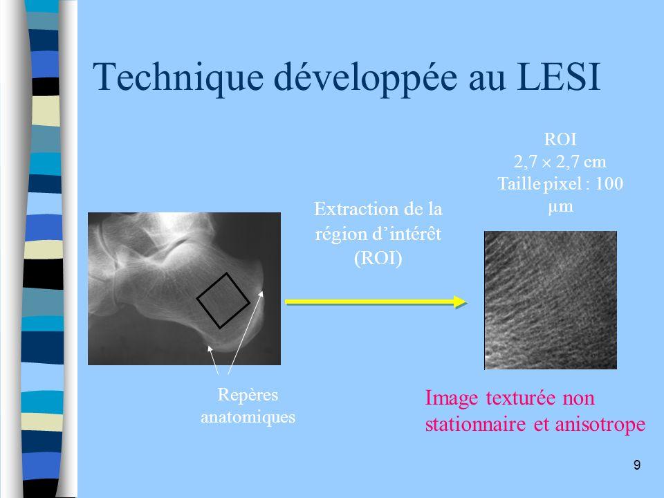 Technique développée au LESI