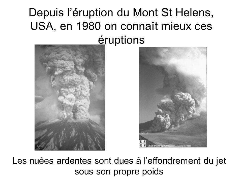 Depuis l'éruption du Mont St Helens, USA, en 1980 on connaît mieux ces éruptions
