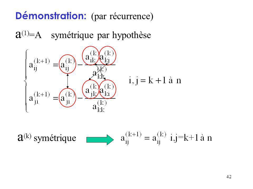 a(1)=A symétrique par hypothèse