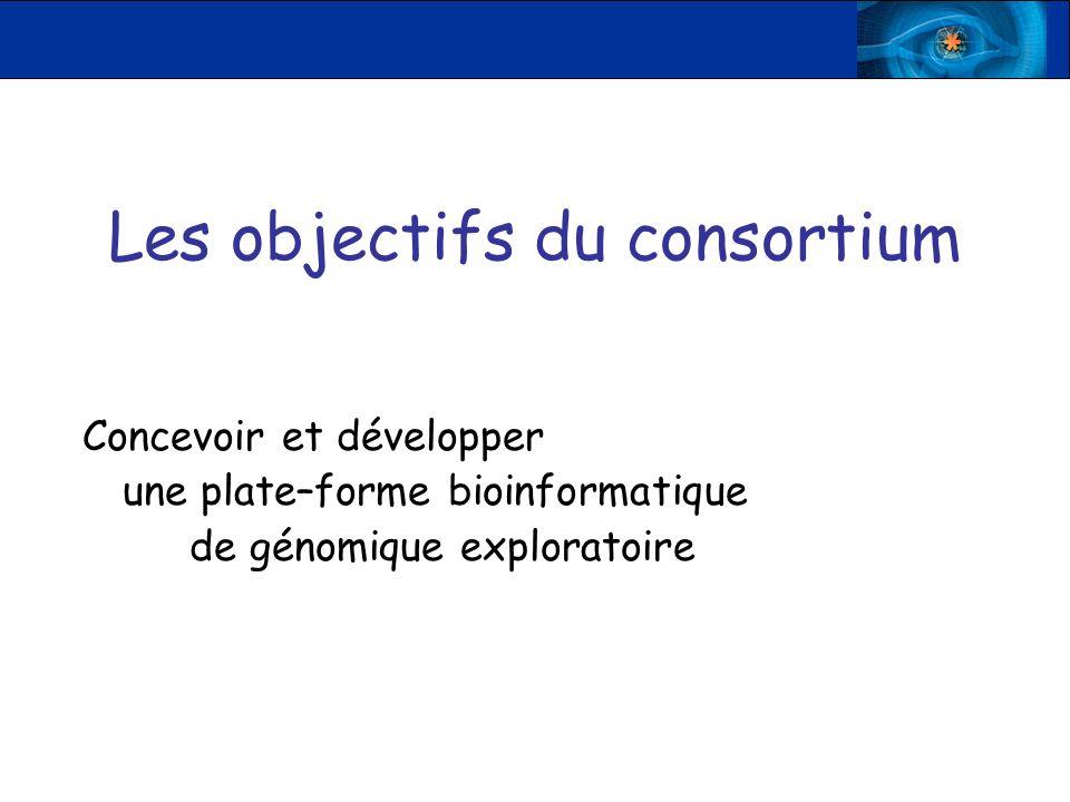 Les objectifs du consortium