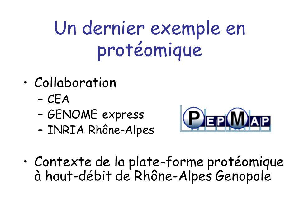 Un dernier exemple en protéomique