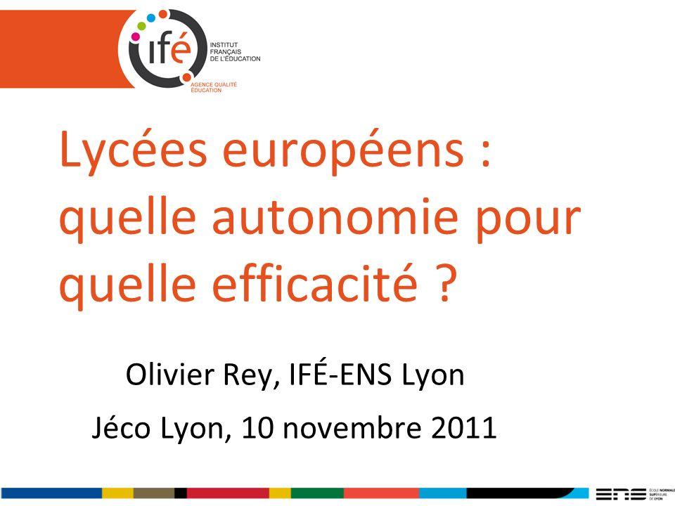 Lycées européens : quelle autonomie pour quelle efficacité
