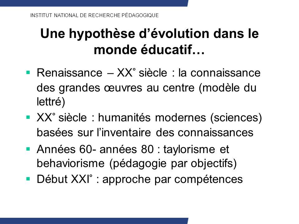 Une hypothèse d'évolution dans le monde éducatif…