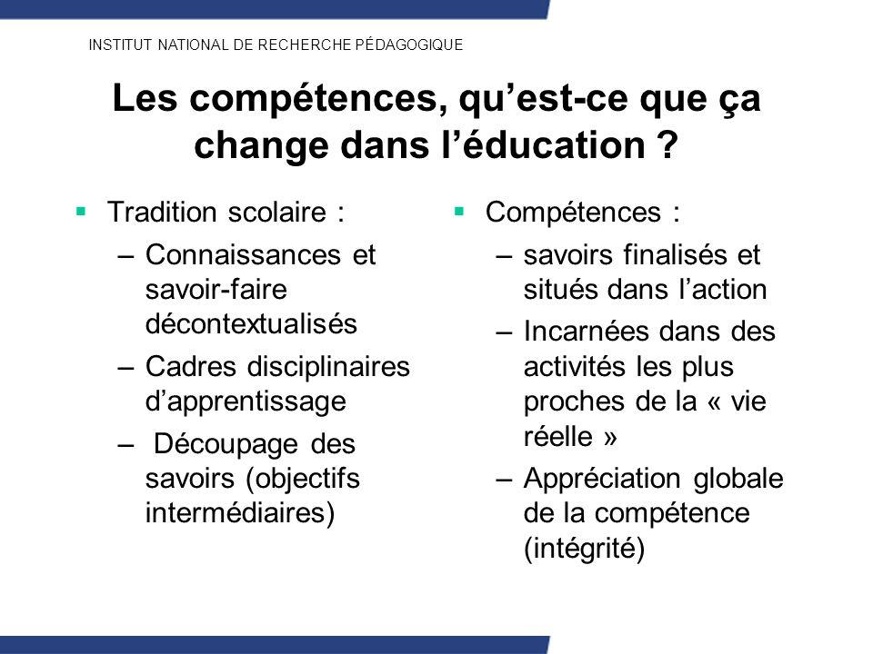 Les compétences, qu'est-ce que ça change dans l'éducation