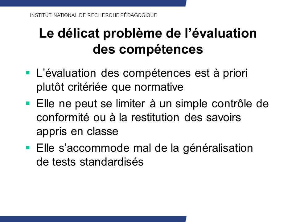 Le délicat problème de l'évaluation des compétences