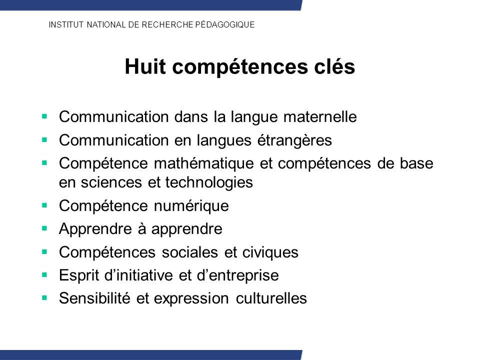 Huit compétences clés Communication dans la langue maternelle