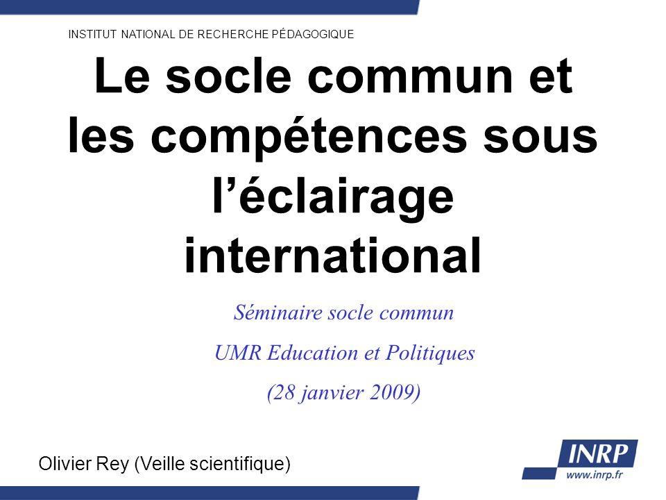 Le socle commun et les compétences sous l'éclairage international