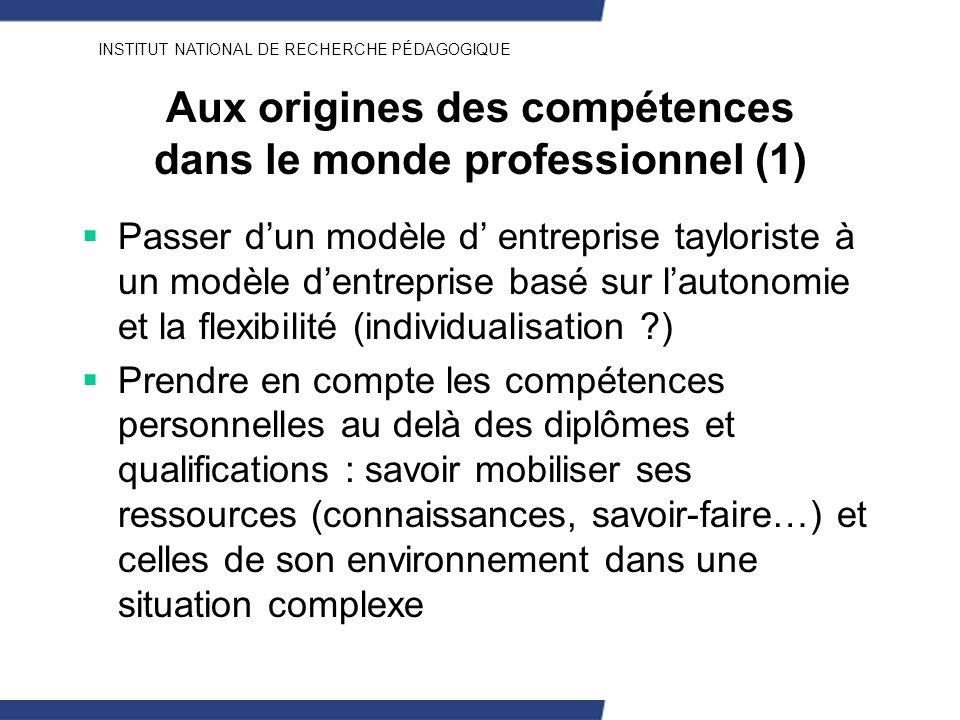 Aux origines des compétences dans le monde professionnel (1)