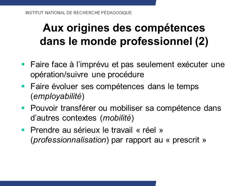 Aux origines des compétences dans le monde professionnel (2)