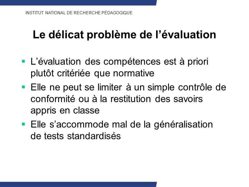 Le délicat problème de l'évaluation