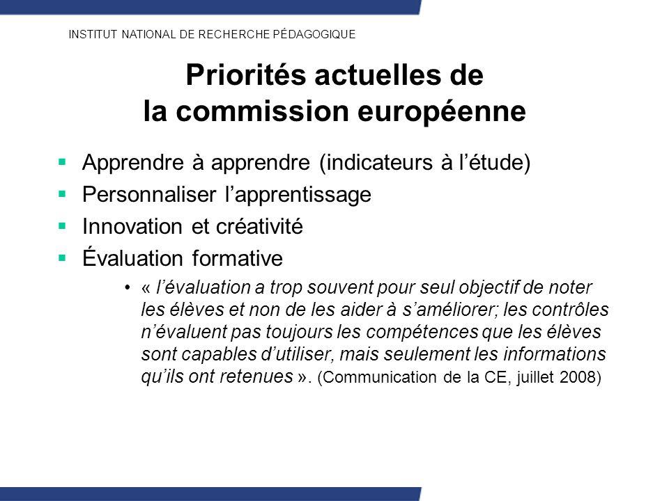 Priorités actuelles de la commission européenne
