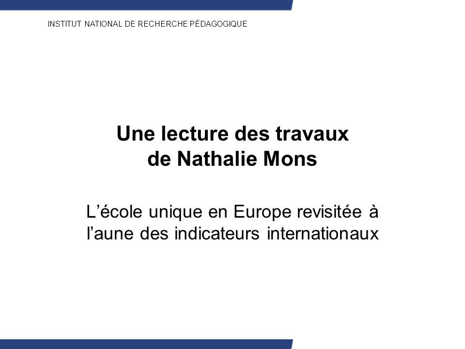 Une lecture des travaux de Nathalie Mons