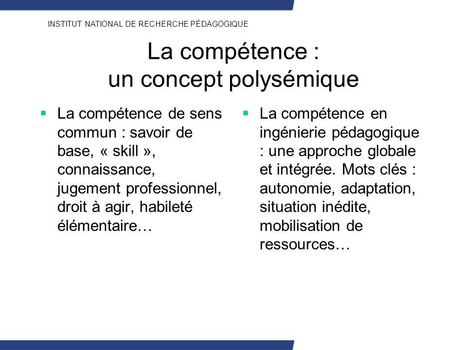 La compétence : un concept polysémique