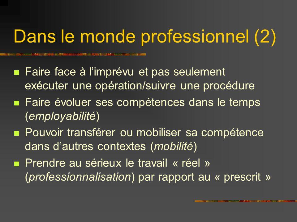 Dans le monde professionnel (2)