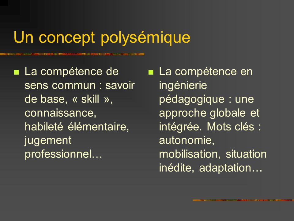 Un concept polysémique