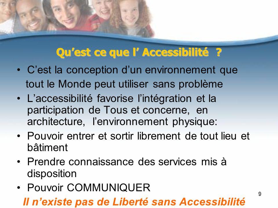 Qu'est ce que l' Accessibilité