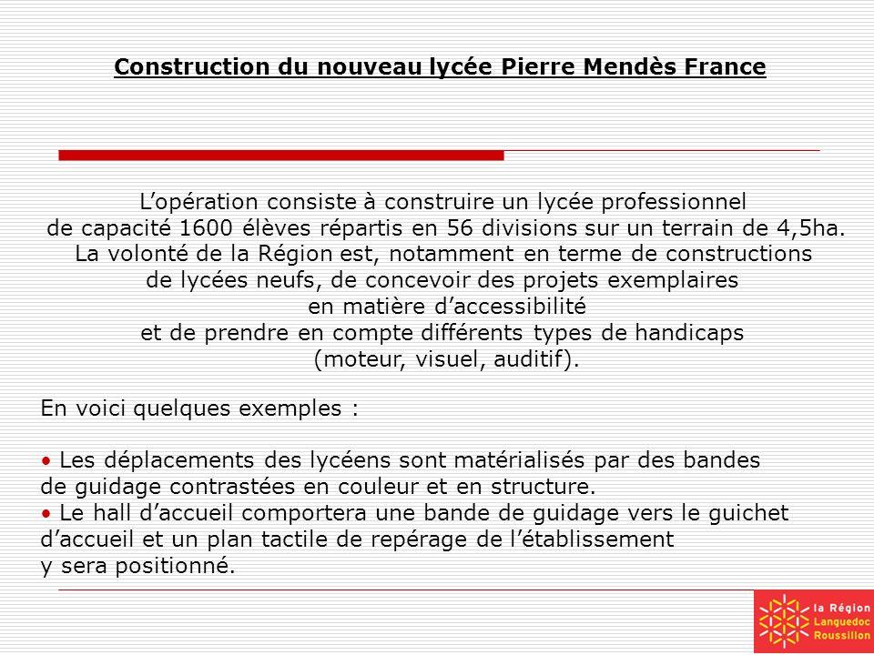 Construction du nouveau lycée Pierre Mendès France