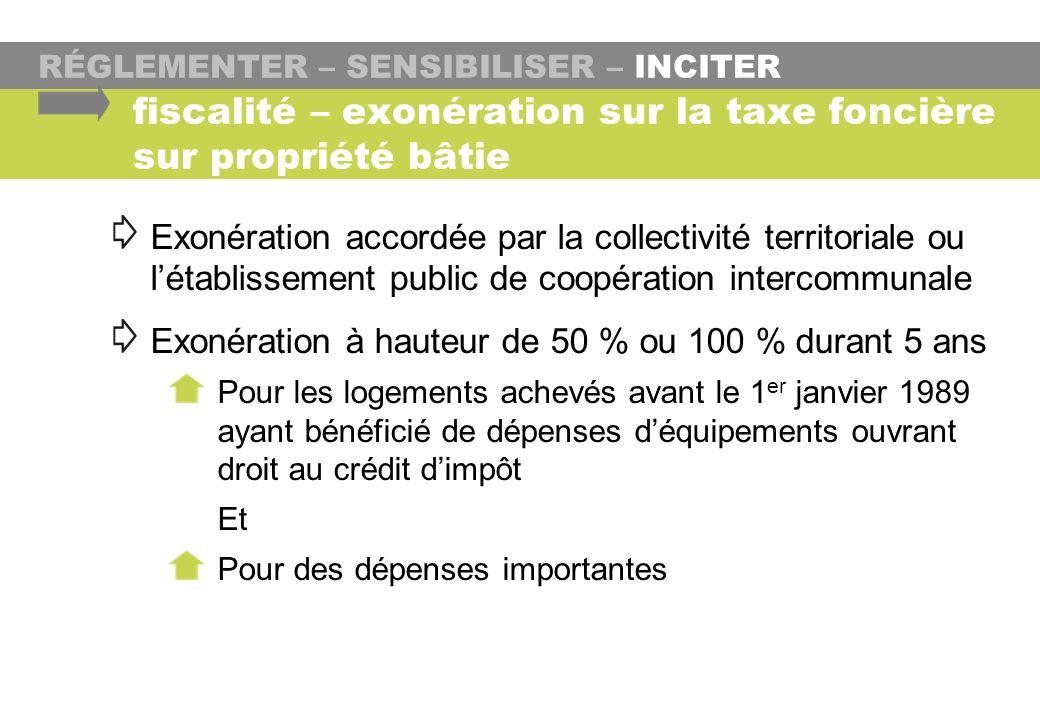 fiscalité – exonération sur la taxe foncière sur propriété bâtie
