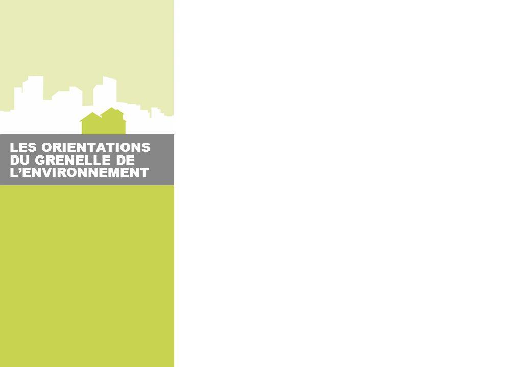 LES ORIENTATIONS DU GRENELLE DE L'ENVIRONNEMENT