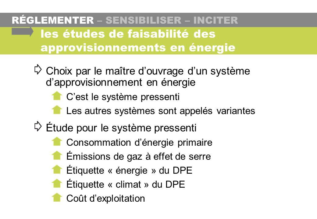 les études de faisabilité des approvisionnements en énergie