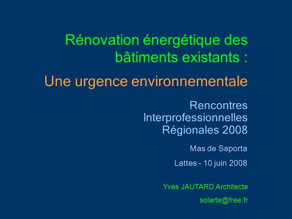Rénovation énergétique des bâtiments existants :