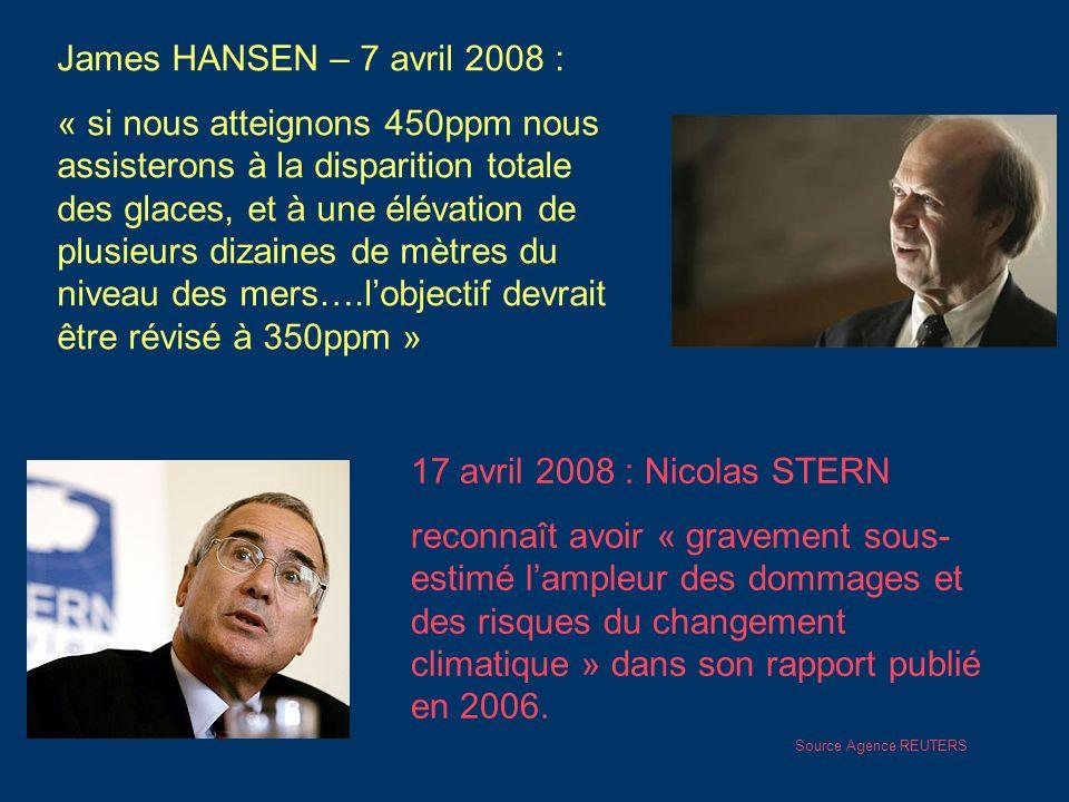 James HANSEN – 7 avril 2008 :