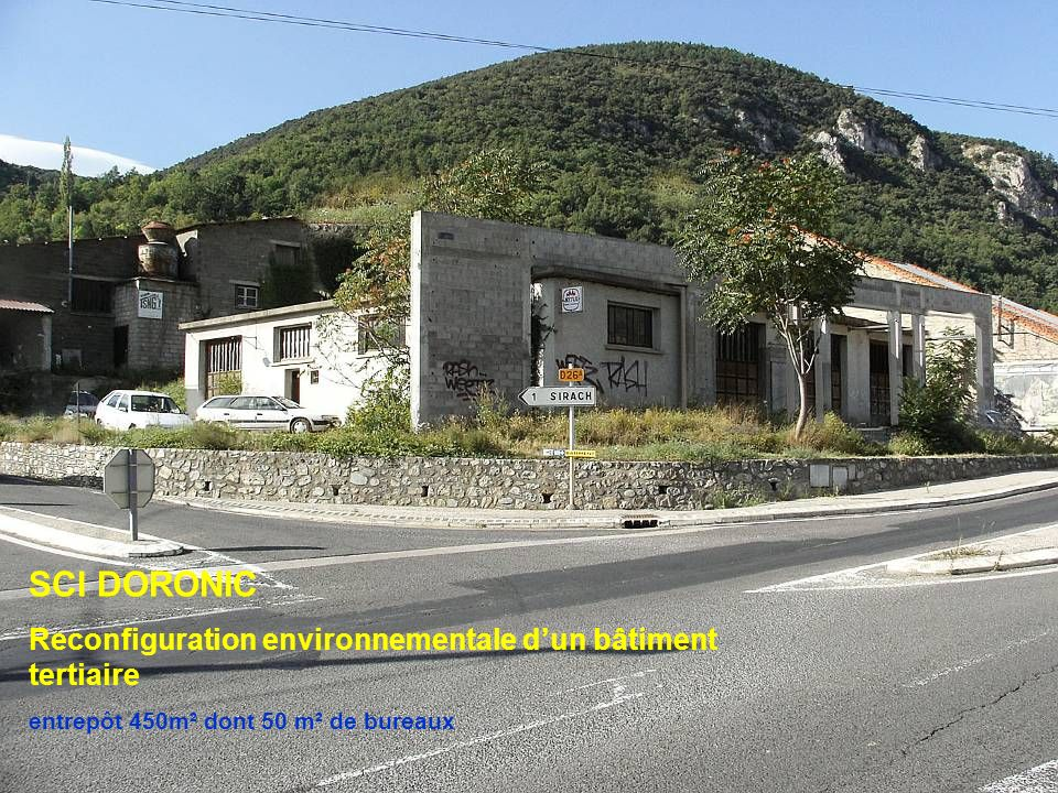 SCI DORONIC Reconfiguration environnementale d'un bâtiment tertiaire