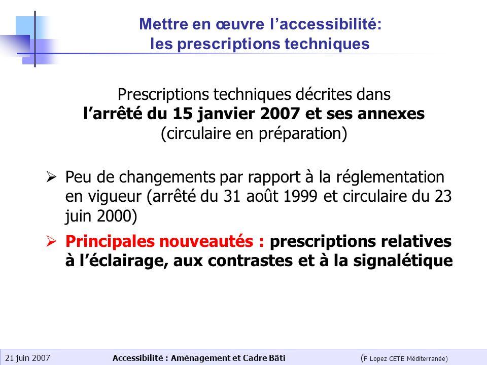 Mettre en œuvre l'accessibilité: les prescriptions techniques