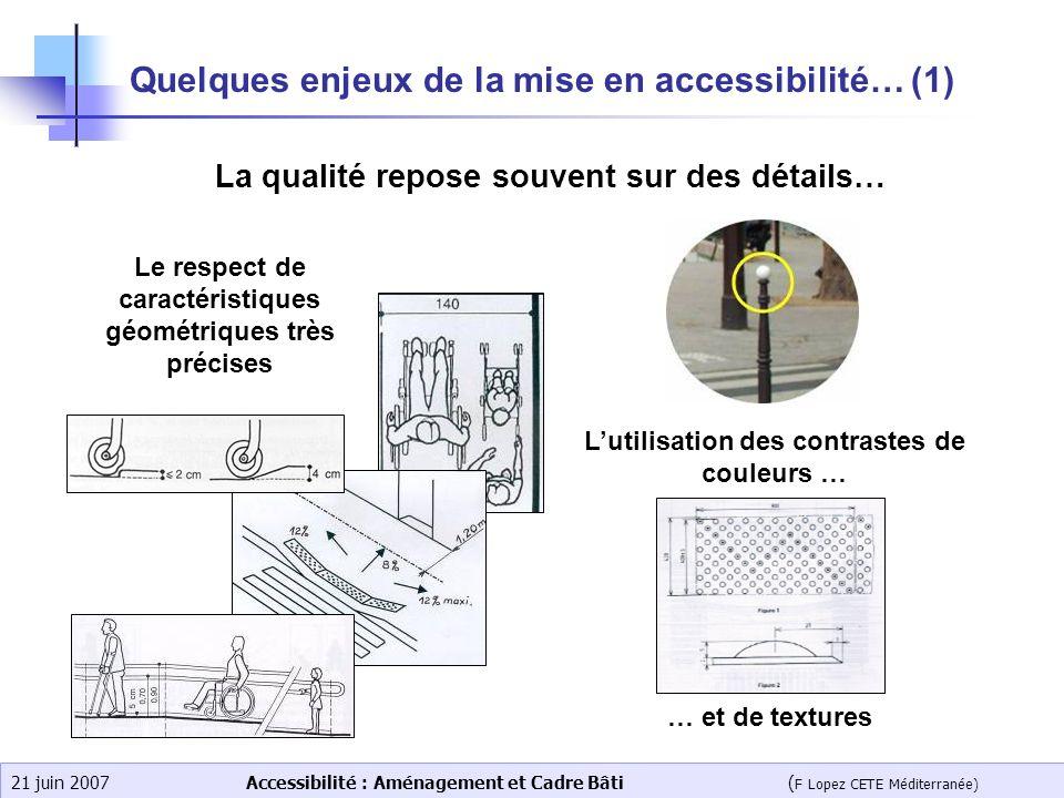 Quelques enjeux de la mise en accessibilité… (1)