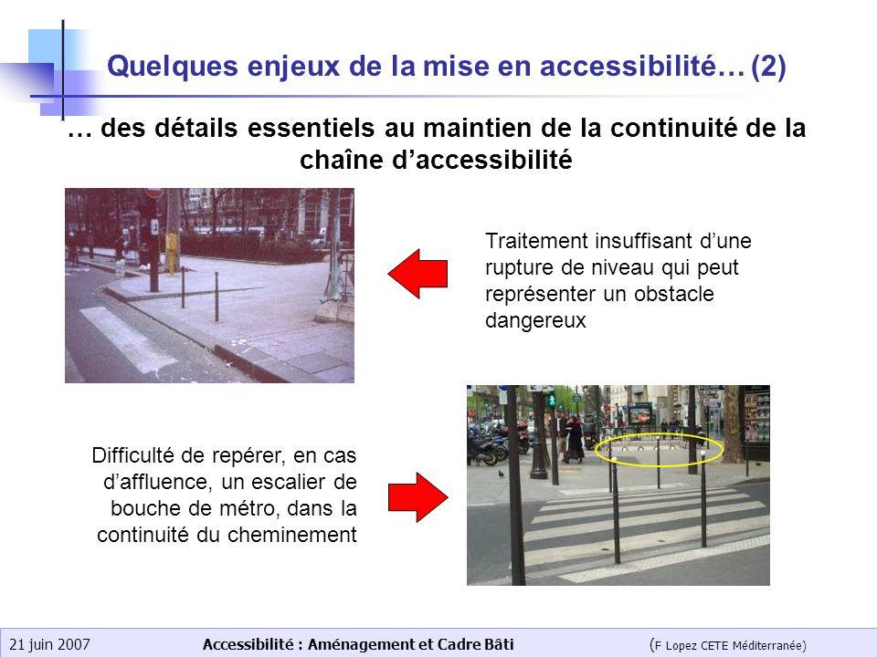 Quelques enjeux de la mise en accessibilité… (2)