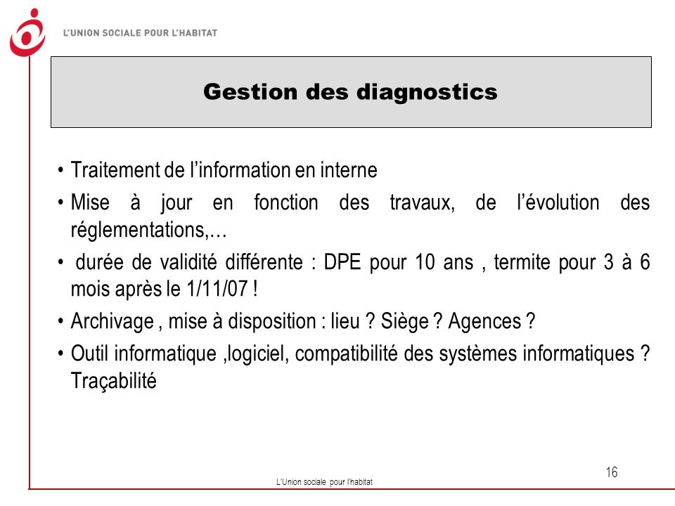 Gestion des diagnostics