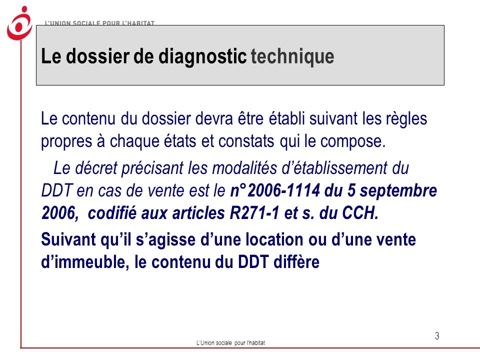 Le dossier de diagnostic technique