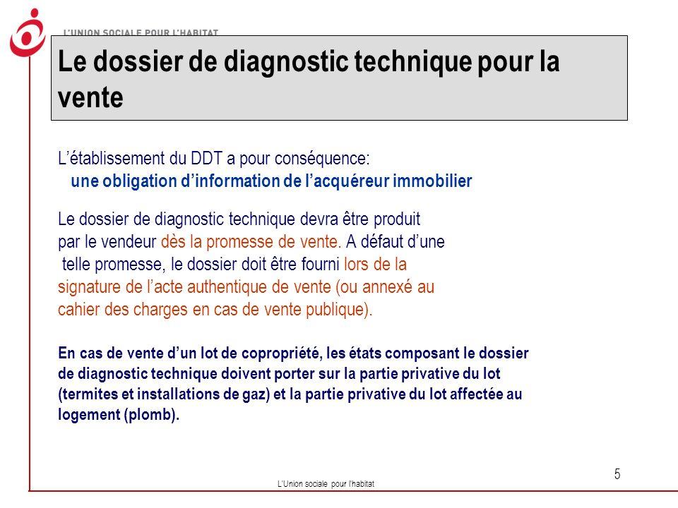 Le dossier de diagnostic technique pour la vente