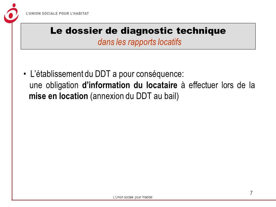 Le dossier de diagnostic technique dans les rapports locatifs