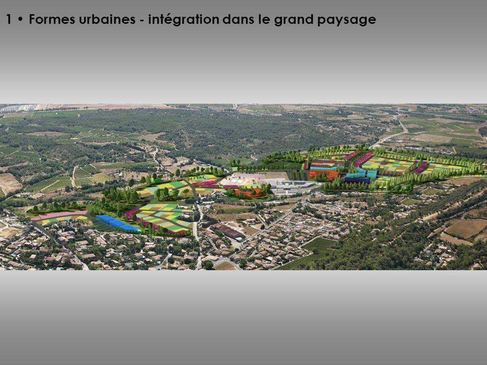 1 • Formes urbaines - intégration dans le grand paysage