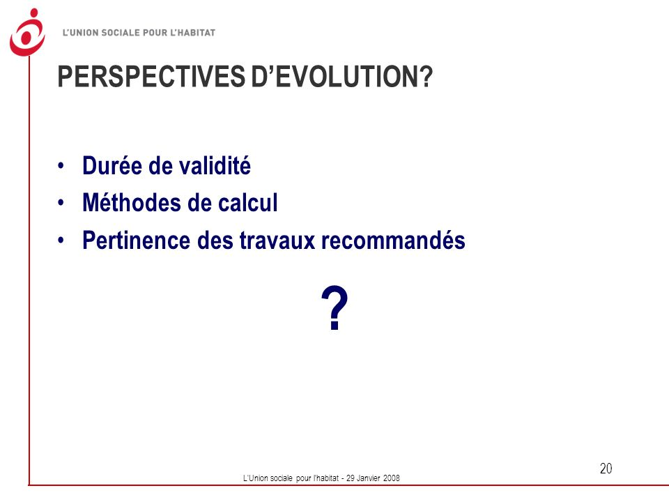 PERSPECTIVES D'EVOLUTION