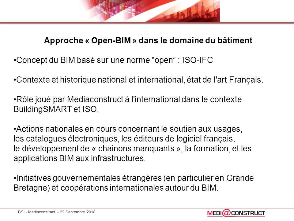 Approche « Open-BIM » dans le domaine du bâtiment