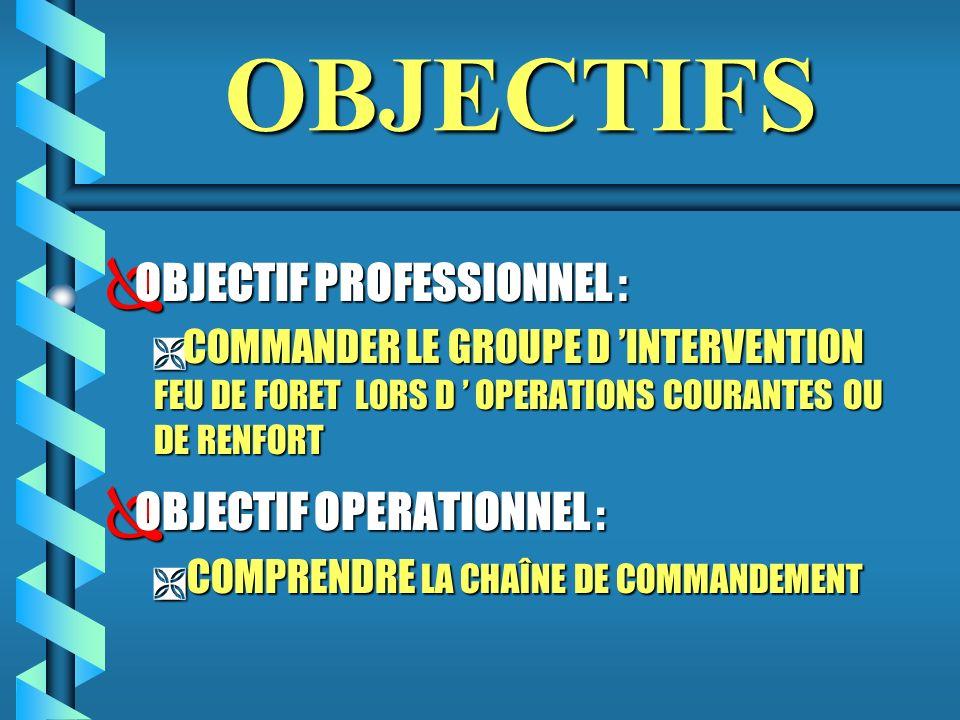 OBJECTIFS OBJECTIF PROFESSIONNEL : OBJECTIF OPERATIONNEL :