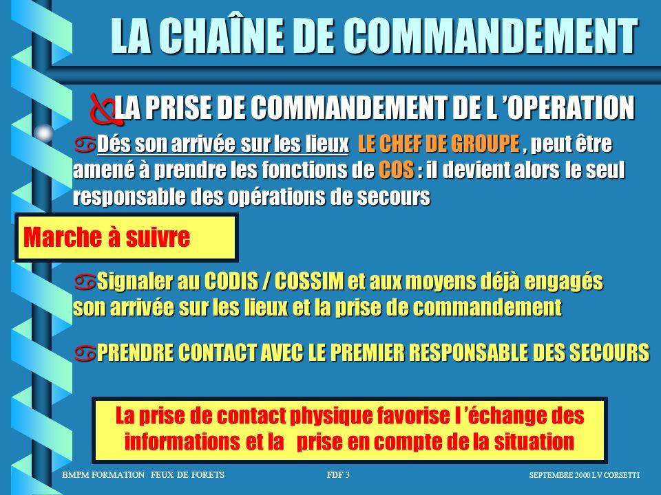 LA PRISE DE COMMANDEMENT DE L 'OPERATION