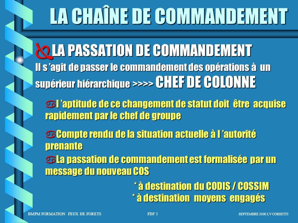 LA PASSATION DE COMMANDEMENT