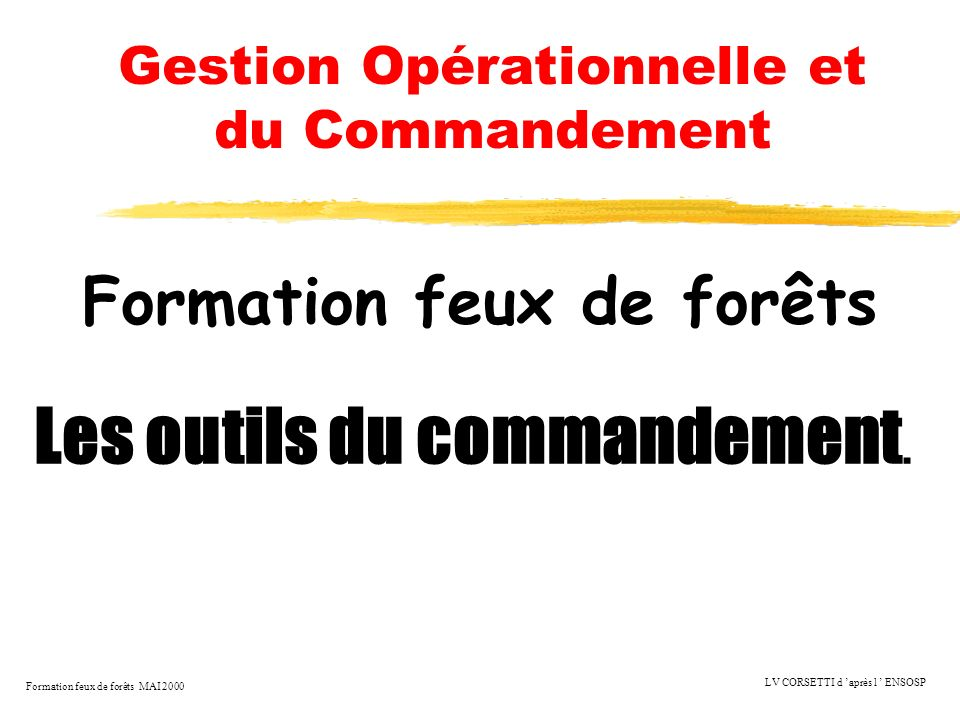 Gestion Opérationnelle et du Commandement