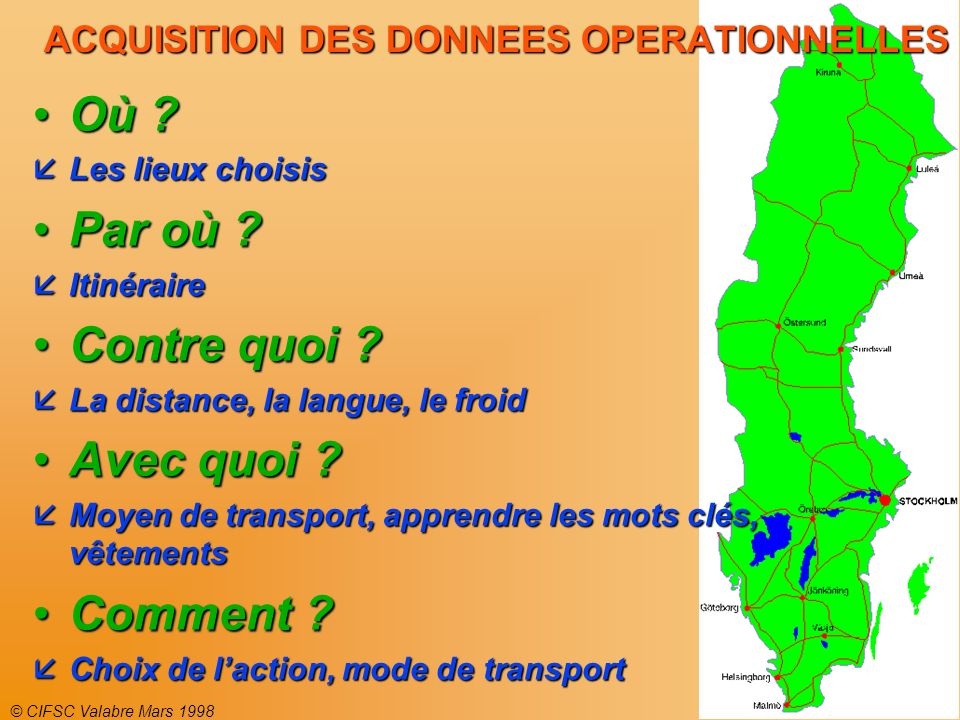 ACQUISITION DES DONNEES OPERATIONNELLES