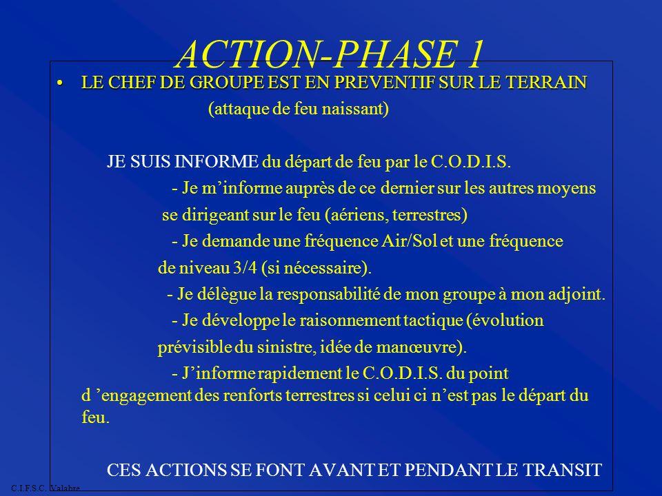 ACTION-PHASE 1 LE CHEF DE GROUPE EST EN PREVENTIF SUR LE TERRAIN